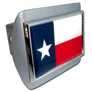 Texas Flag Brushed Chrome Hitch Cover Highest Quality Made In The Usa