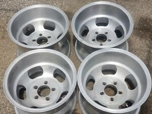 Vintage 15x10 Slot Mag Wheel 15 Inch Rims Rally Mopar Crager With A 4 1 2 Lip In