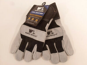 Wells Lamont Mens Cold Weather Heavy Duty Cowhide Palm Leather Gloves Large