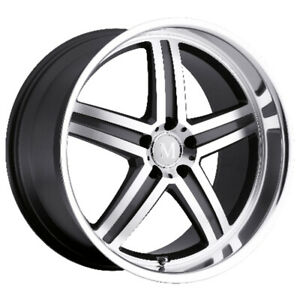 Mandrus Mannheim Rimswheels For Mercedes 17x8 5x112 Gunmetal Mirror Lip Qty4