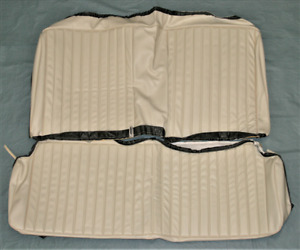 1973 Dart Sport And Duster Fastback White Rear Seat Covers For Non Folding Rear