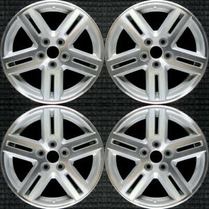 Dodge Avenger Machined W Silver Pockets 17 Oem Wheel Set 2008 To 2010