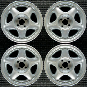 Ford Mustang All Silver 16 Oem Wheel Set 1991 To 1993
