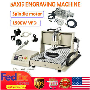 5 Axis 6040 Router Engraver Pcb Wood Metal Carving Diy Milling Machine 1 5kw Vfd