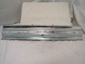 1965 Plymouth Fury Deck Lid Center Panel Sport Fury
