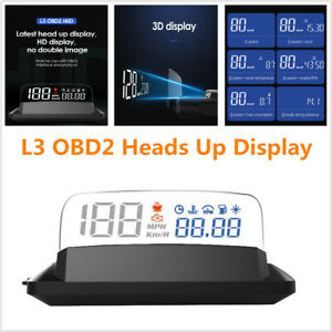 L3 Obd2 Heads Up Display Car Speed Fuel Rpm Odometer Hud With Reflection Board