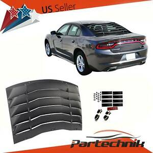 Fits 11 20 Dodge Charger Ikon Style Rear Window Louver Cover Vent Black Abs