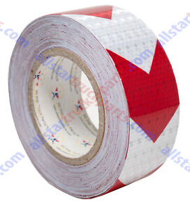 Red Arrow Reflective Tape 2 Hazard Warning Tape Reflective Conspicuity Safety