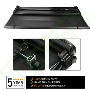 For 05 18 Nissan Frontier 5ft Bed Hard Solid Tri fold Tonneau Cover Waterproof