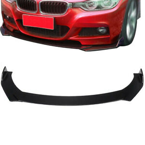 Universal Car Front Bumper Lip Body Kit Spoiler Pair Side Skirt Rocker Panel Us