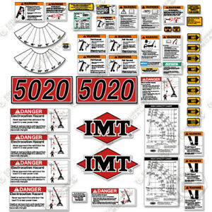 Imt 5020 Decal Kit Boom Truck Full Safety Stickers With Logos 7 Year Vinyl