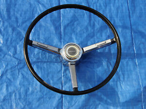 Original1967 Chevrolet Chevelle Factory Black Steering Wheel With Horn Buttons