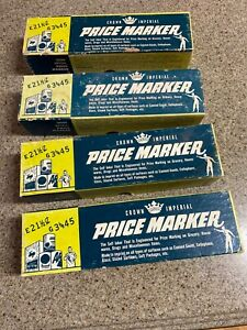 All 4 Vintage Crown Imperial Price Markers Model Code Number A For