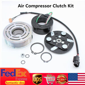 Air Compressor Clutch Kit Pulley Bearing Coil Fit For Honda Civic 2006 2011 1 8l