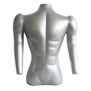 Inflatable Male Mannequin Bust W Arms T shirt Display Dummy Torso Models 71cm