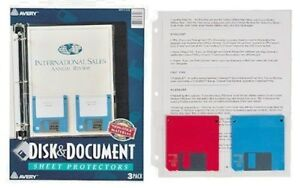 Avery r Disk Document Sheet Protectors Top Loading Pack Of 3