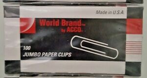Acc72580 Acco Economy Jumbo Paper Clips By Acco Brands Multipack 10 Pks
