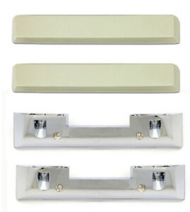 New 1965 1966 Mustang White Arm Rest Pads And Bases Set Of 2 Left And Right