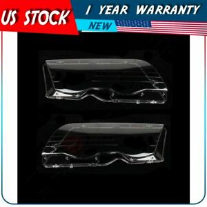 Front Headlight Lens Cover Pair For Bmw 3 Series E46 98 01
