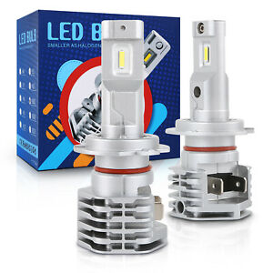 4x H7 Led Headlight Bulb Conversion Kit High Low Beam Fog Lamp 6000k Super White
