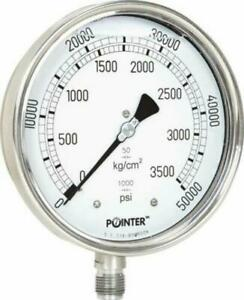 High Pressure Gauge Dual Scale 0 2000 Bar 0 30000 Psi For Common Rail