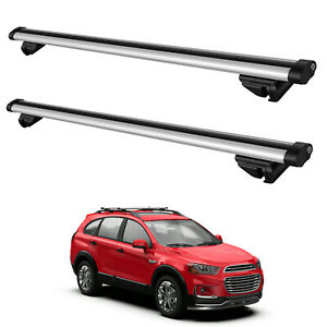 Max 44 Width Universal Roof Rack Cross Bar For Most Cars W Raised Side Rails