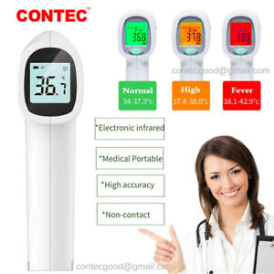 Medical Non contact Infrared Thermometer Gun Lcd Digital Forehead Fever Adult