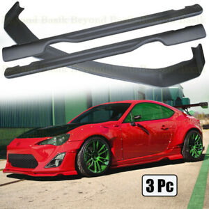 For 2013 2020 Scion Frs Subaru Brz Toyota 86 Front Lip Side Skirts Wide Body Kit