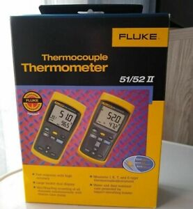 Fluke 52 2 60hz Dual Input Digital Thermometer New free Us Shipping