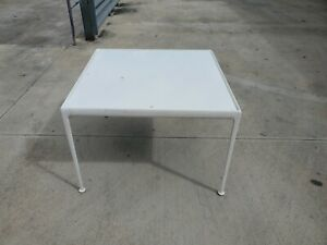 1966 Knoll Richard Schultz Aluminum Iron Top Square Dining Table As Is