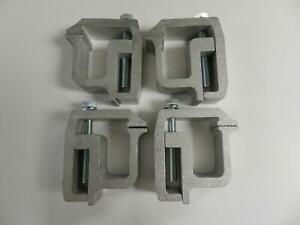 4x Truck Cap Topper Camper Shell Mounting Aluminum Clamps Heavy Duty