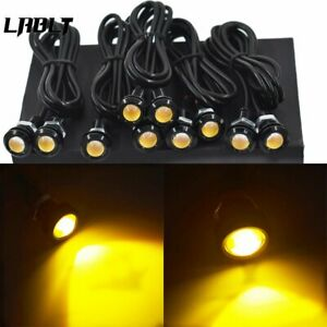 10x Amber Yellow 18mm Eagle Eye 9w Led Fog Drl Reverse Backup Light Car Motor