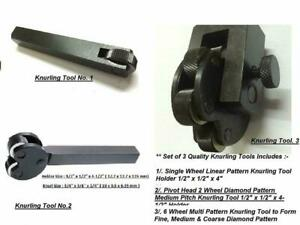 Combo Of 3 Knurling Tools For Lathe Metalworking Machinists model Making