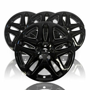 4 Black 17 Wheel Covers Skins Hub Caps Fits Alloy Wheels For 13 16 Ford Fusion