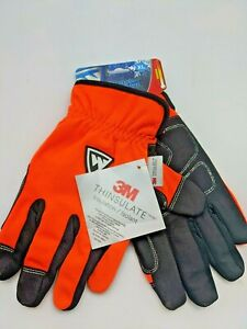 West Chester Xl Work Gloves High Visibility Orange Extra Large W 3m Thinsulate