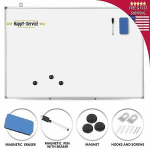 Magnetic Dry Erase Board Aluminium Frame School Office Wall Hanging White Board