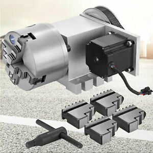 Cnc Router Rotary Axis A axis Rotational 4 jaw 4th axis 100mm Self centering