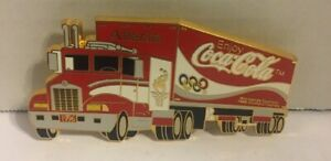 1996 ATLANTA OLYMPIC TRACTOR PIN FROM COCA COLA LARGE PIN