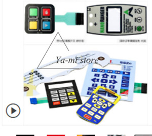 Membrane Switch Panel Custom Keypad Film Pcpet Equipment Waterproof