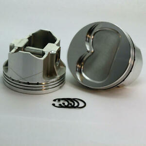 Dss Piston Kit K3 6103 4150b 4 150 Bore 14cc Dish For Pontiac 400 V8