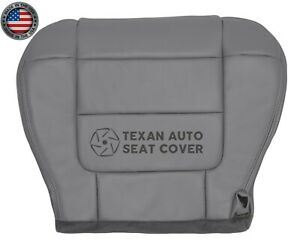 2002 Ford F150 Lariat Super Crew Driver Side Bottom Leather Seat Cover Gray