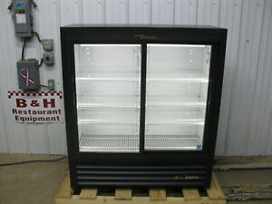 True Gdm 41sl 54 hc ld Glass Sliding Two 2 Door Merchandiser Refrigerator Cooler