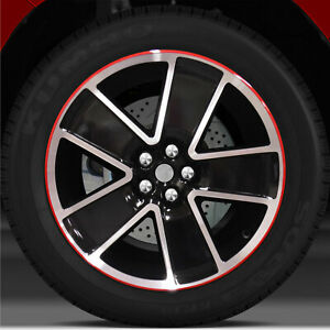 21x9 5 Factory Rear Wheel Black W Red For 2012 2015 Chevy Camaro