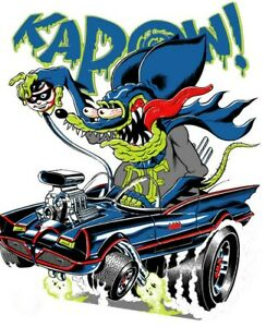 Rat Fink Batman Kapow 3 6 Vinyl Decal Stickers