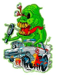 Rat Fink Ghost Buster 3 6 Vinyl Decal Stickers