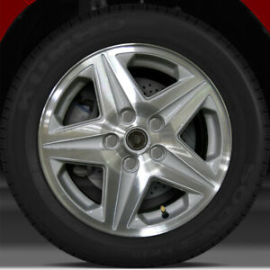 16x6 5 Factory Wheel bright Medium Silver Textured Machined For 2001 05 Impala