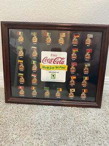 Coca-Cola World Cup 1994 Collector Pin Set Exclusively At Publix 24 Pins Framed
