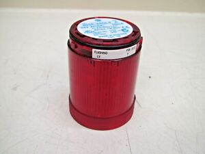 Allen Bradley 855e 24gl4 Series A Red Flashing Led Tower Stack Light Used