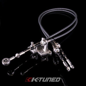 K tuned Race spec Shifter Cables W Bracket For K24z7 Trans With Rsx s Selector
