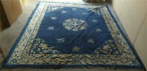 Large Size Asian Influence Area Rug Antique Vgc Beautiful Coloring Vivid